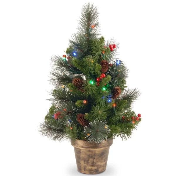 Tabletop Christmas Trees Up To 55 Off Through 12 26 Wayfair