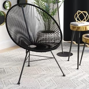 metal papasan chair vintage formica kitchen table and chairs oversized frame wayfair quickview