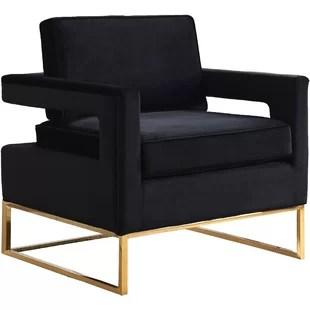 black velvet chair green bistro chairs modern accent allmodern quickview