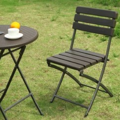 Patio Folding Chair Cheap Lycra Covers For Sale Dining Chairs You Ll Love Wayfair Danielson Bistro Style Set Of 2