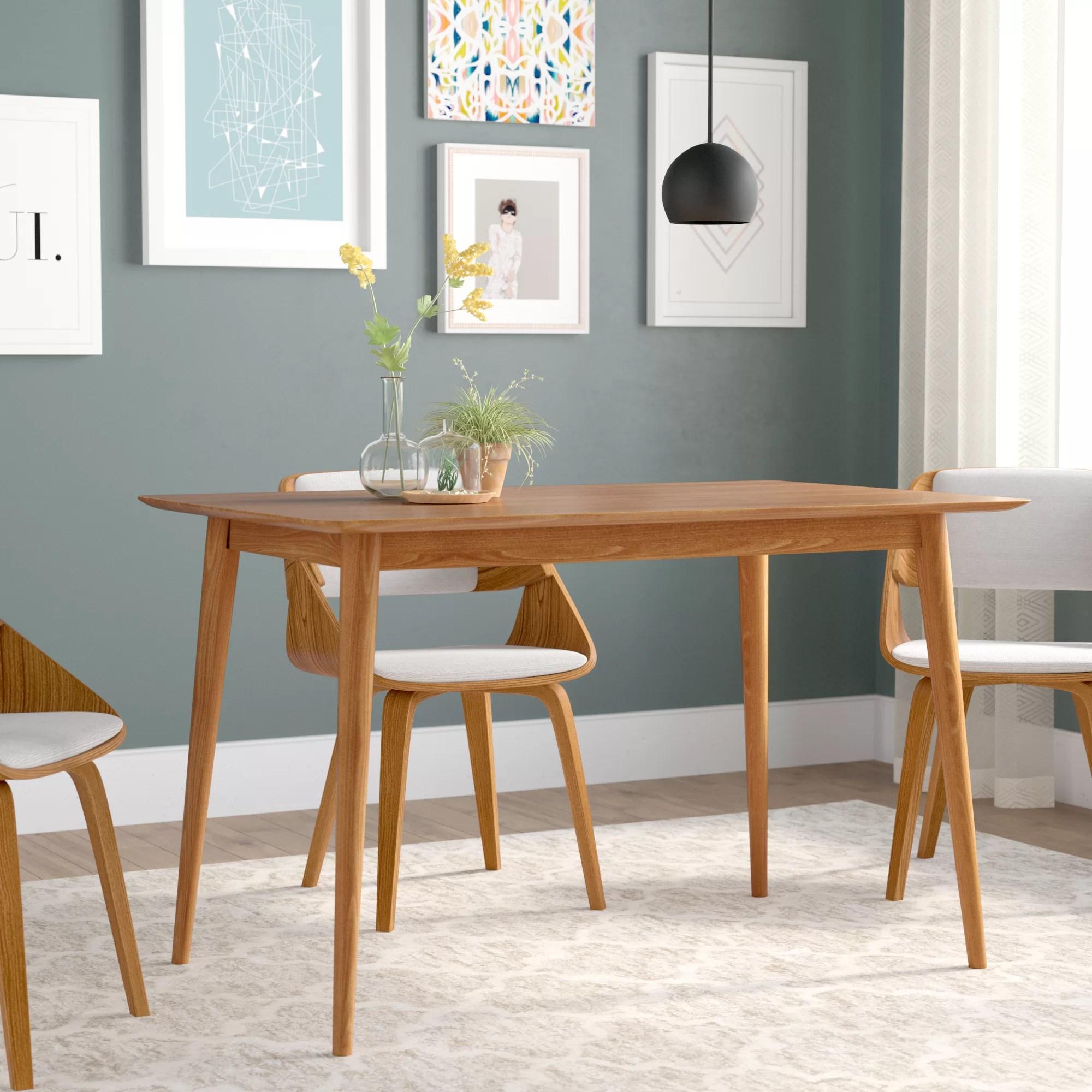 kaylen mid century modern wood dining table