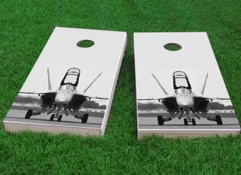 F-18 Hornet Fighter Jet Cornhole Game Size: 48 H x 24 W Bag Fill: Whole Kernel Corn