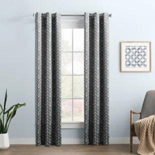 wayfair basics chevron blackout thermal grommet single curtain panel