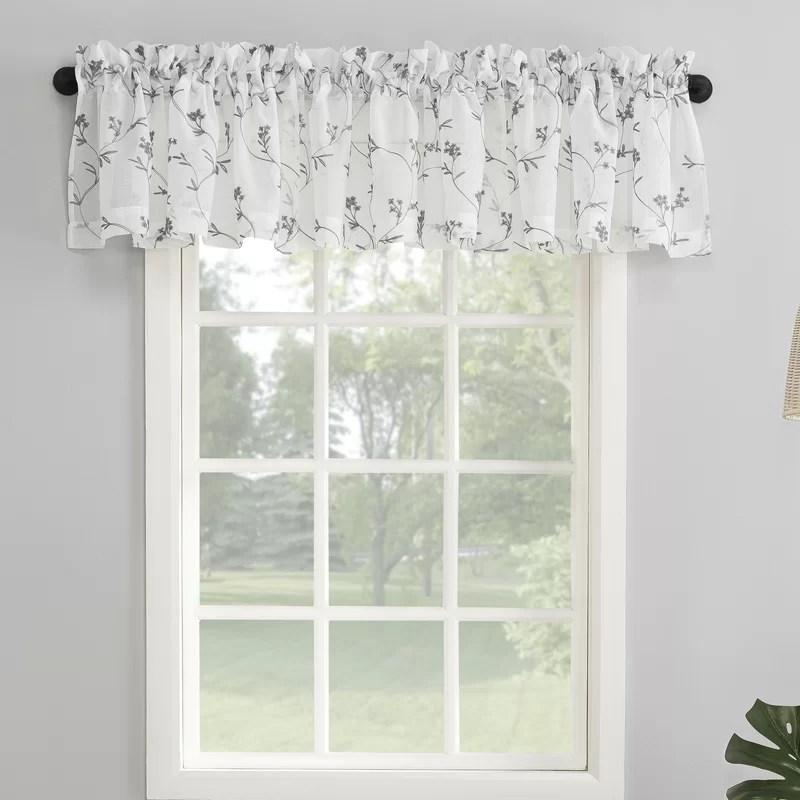 norah embroidered 50 window valance