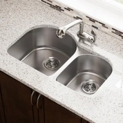 Buy Undermount Kitchen Sink Floor Cupboards Stainless Steel 31 X 20 Double Basin By Mr Direct