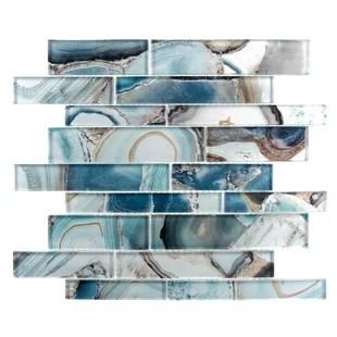 myst random sized glass brick joint mosaic tile