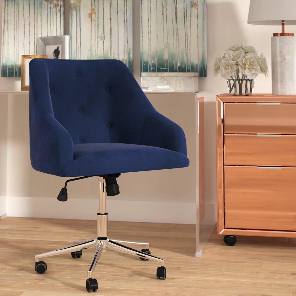 medium resolution of willa arlo interiors rashida tufted swivel mid back office chair reviews wayfair