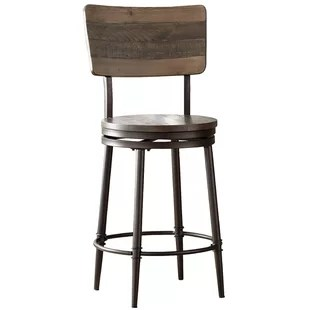 stool under chair white covers bed bath and beyond bar stools you ll love wayfair cathie 30 swivel