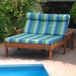 Double Lounge Chair Outdoor Wood Kitchen Table And Chairs Patio Chaise You Ll Love Wayfair Quickview