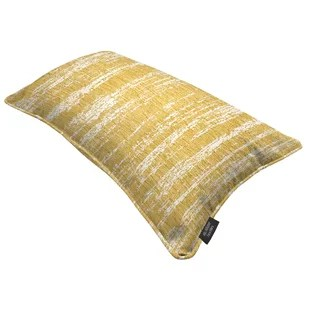 chenille yellow and gold throw pillows