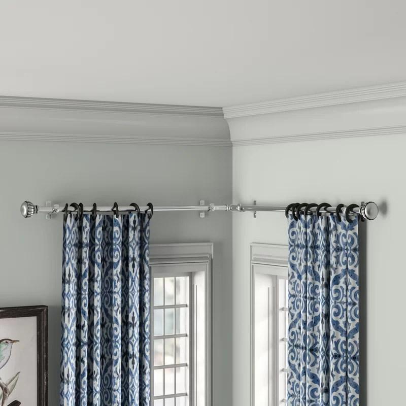 jarne corner window single curtain rod