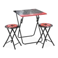 Wooden Folding Table And Chairs Set Wood Glider Chair Parts Kids Wayfair 3 Piece Stool