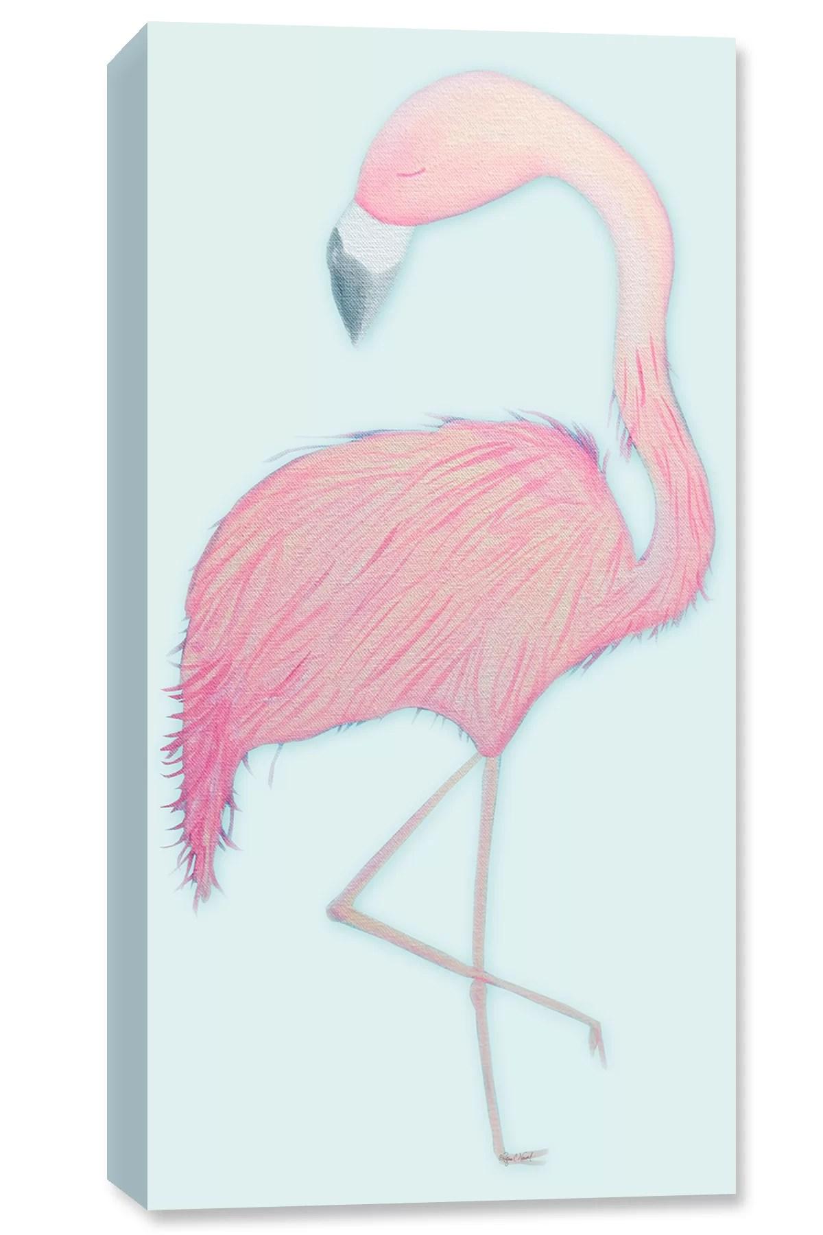 flamingo drawing print on