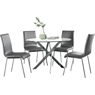 white table chairs classic chair designs modern contemporary dining room sets allmodern quickview