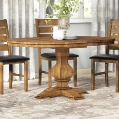 Solid Oak Dining Table And Chairs Adams Adirondack Stacking Chair In Clay Farmhouse Tables Birch Lane Quickview