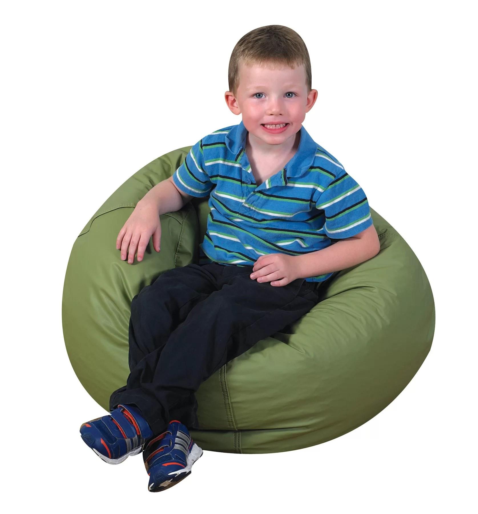 bean bags chair white and ottoman set children s factory cozy woodland bag wayfair