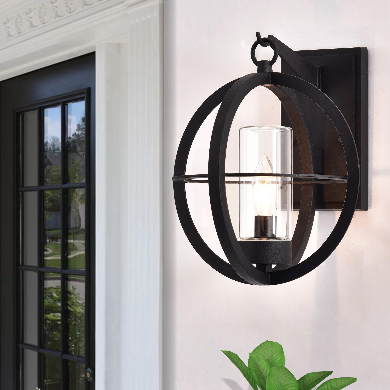 vaughan black 11 5 h outdoor wall lantern