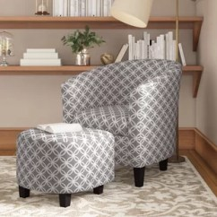 Grey Club Chair White Ikea Office Corner With Ottoman Wayfair Quickview