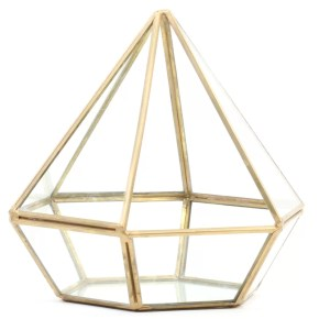 Diamond Geometric Table Glass Terrarium