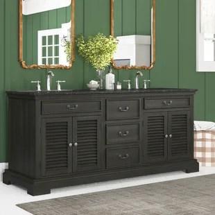 flannagan 72 double bathroom vanity set