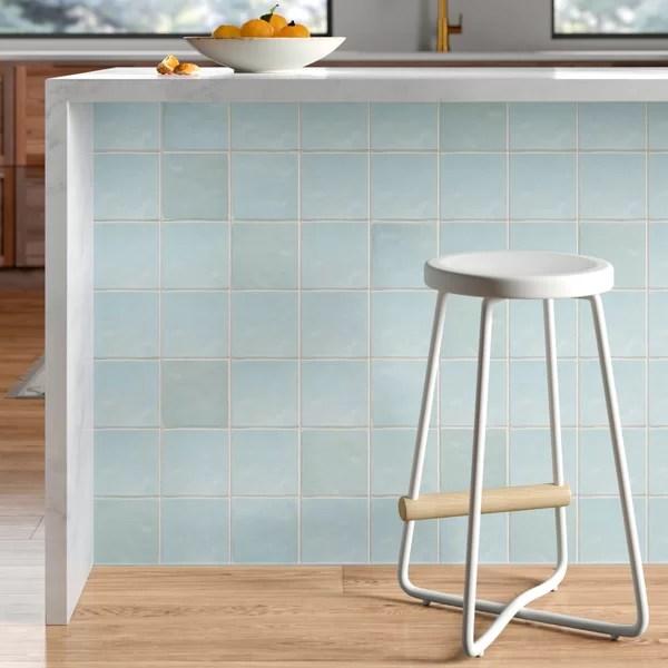 daniels 5 x 5 ceramic mosaic tile in baby blue