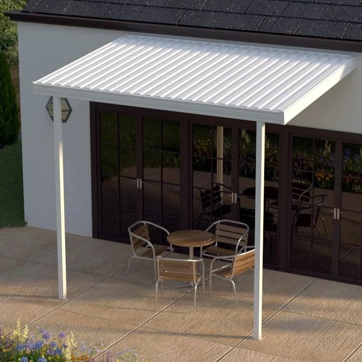 12 ft w x 8 ft d metal standard patio awning