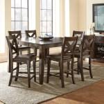 Alcott Hill York 7 Piece Counter Height Extendable Solid Wood Dining Set Reviews Wayfair Ca
