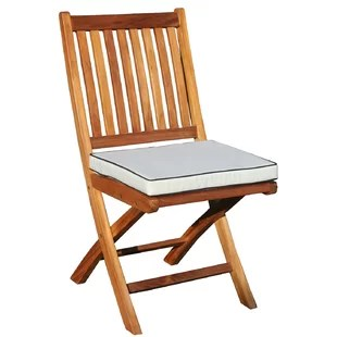 foldable cushion chair louis 15th chairs folding teak cushions wayfair dining