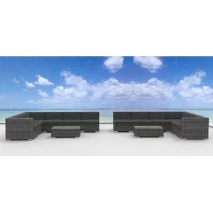 La Jolla 14 Piece Sectional Set with Cushions