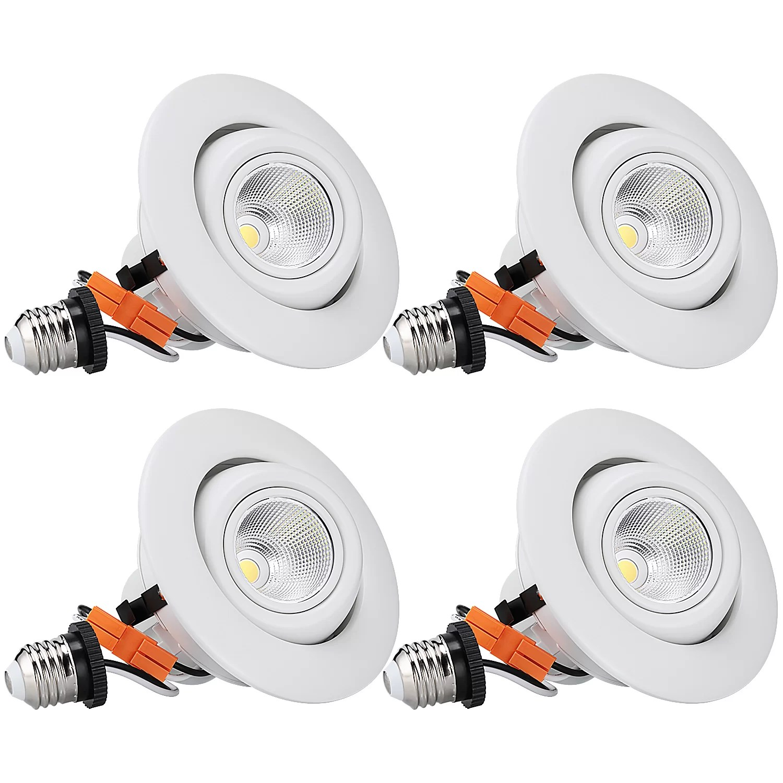 4 led recessed lighting kit
