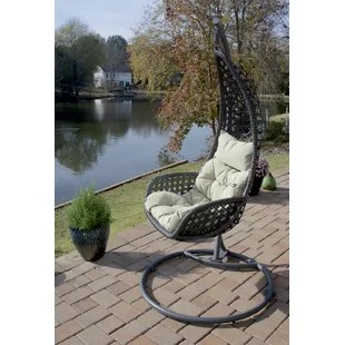 indoor hanging egg swing chair chairs for bedroom patio wayfair san marino with stand