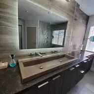 trough concrete handmade rectangular drop in bathroom sink