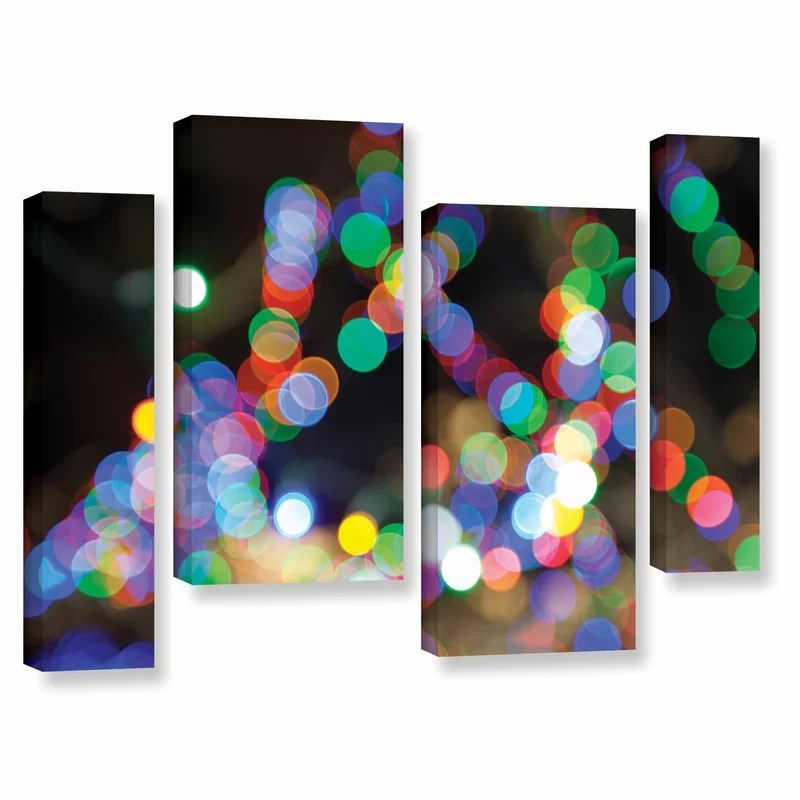 Bokeh 1 by Cody York 4 Piece Graphic Art on Wrapped Canvas Set Size: 36 H x 54 W x 2 D