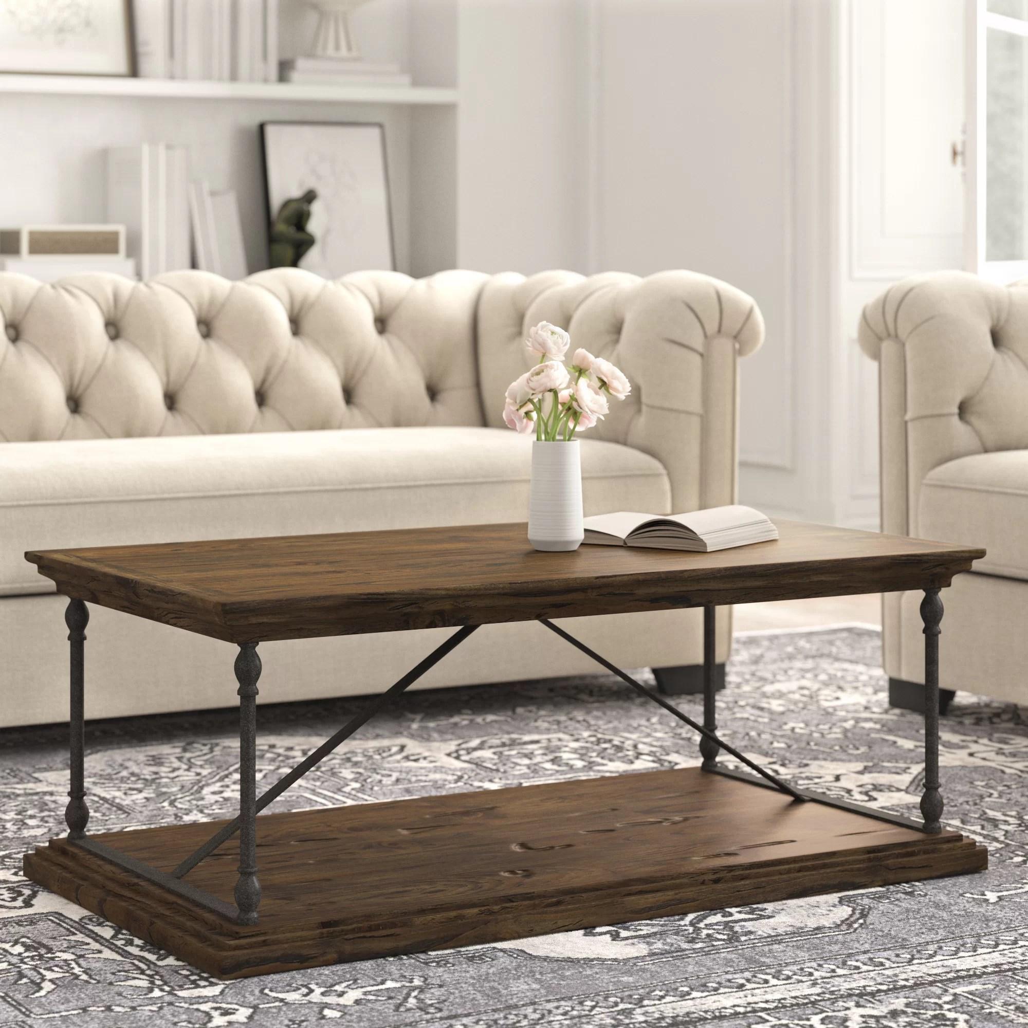 avalon floor shelf coffee table with storage