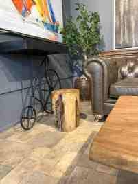 Loon Peak Fielder Solid Wood Tree Stump End Table Wayfair Ca