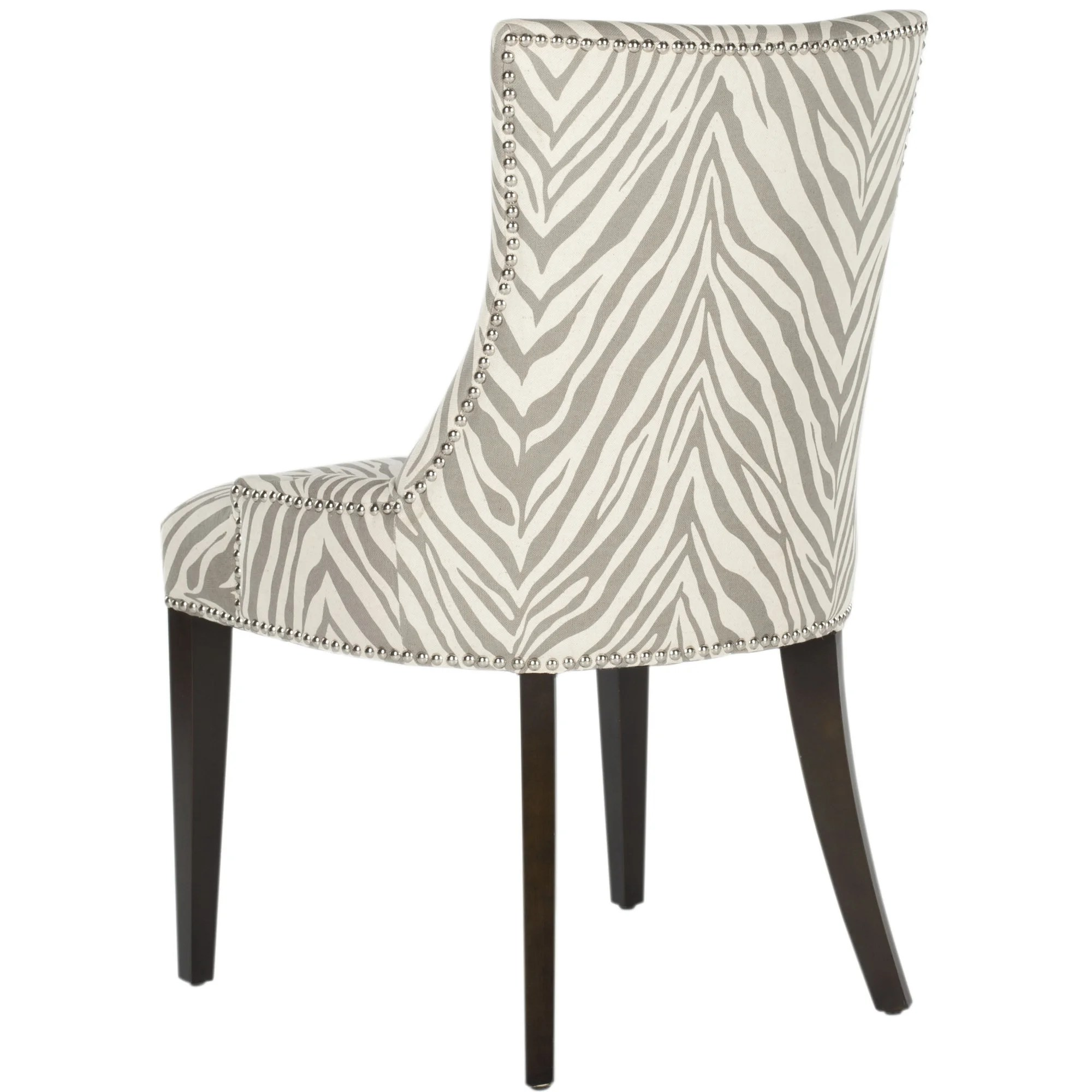 zebra dining chairs orange adirondack brayden studio alpha centauri upholstered side chair in