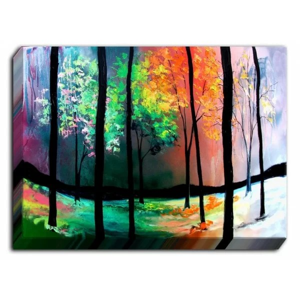 The Four Seasons by Aja Ann Painting on Wrapped Canvas Size: 24 H x 36 W x 1.5 D