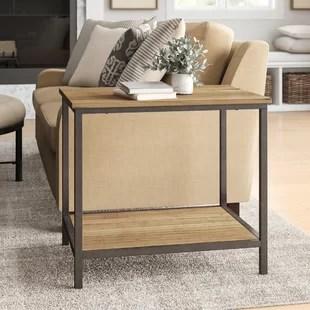 living room end tables furniture storage farmhouse birch lane stourton side table