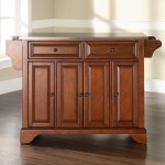 Hedon Kitchen Island With Stainless Steel Top Reviews Joss Main