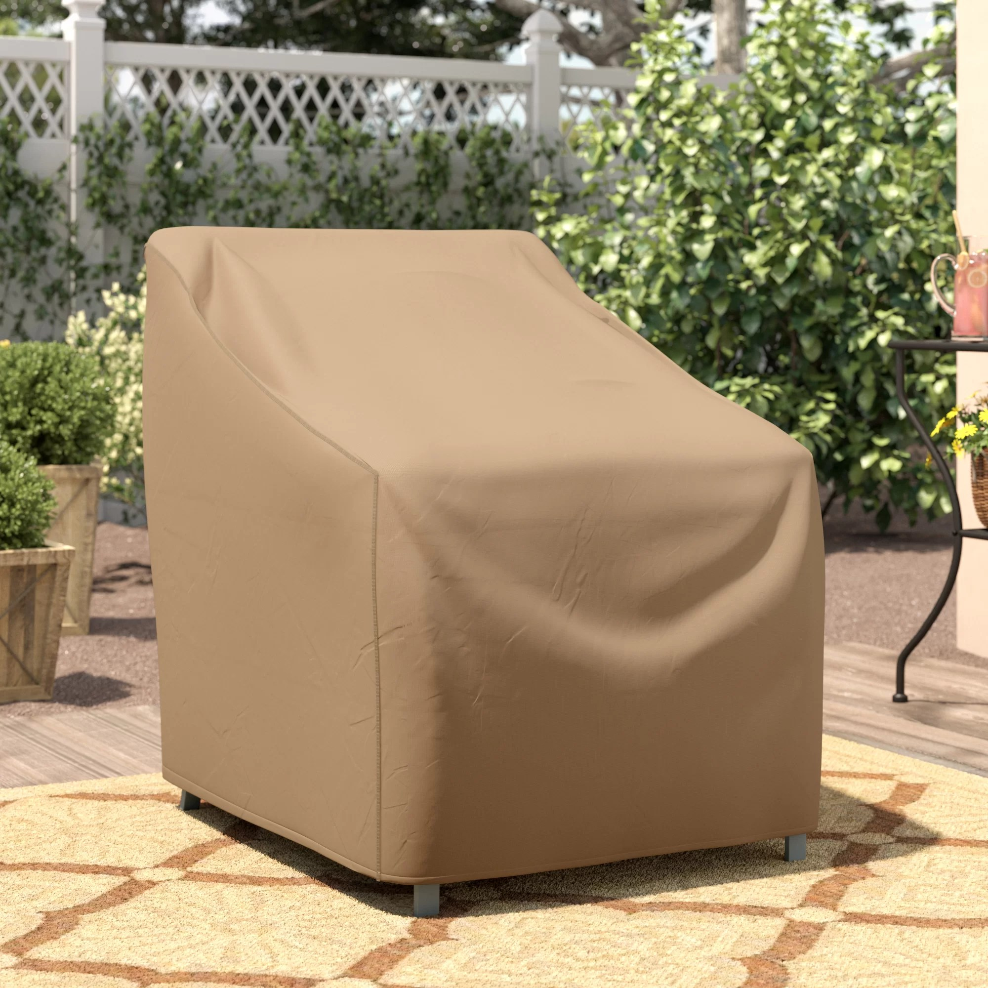 wayfair basics patio chair cover with tie fastener in36 h x 32 w x 37 d