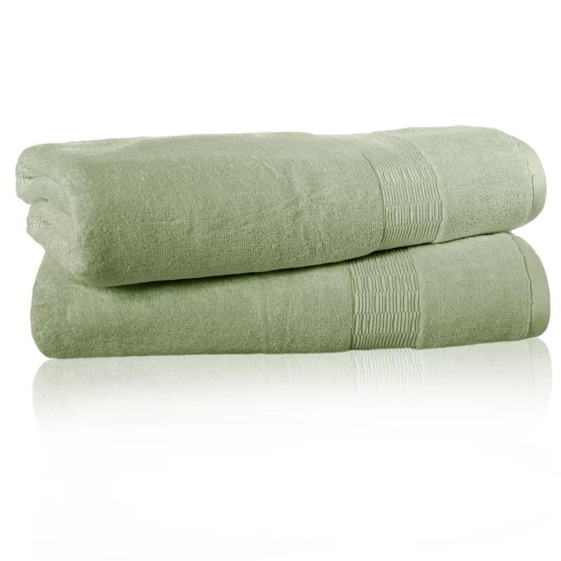 Low Twist 100% Cotton Bath Sheet Color: Light Jade