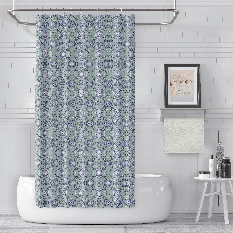 Obrien Flower Luxury Single Shower Curtain