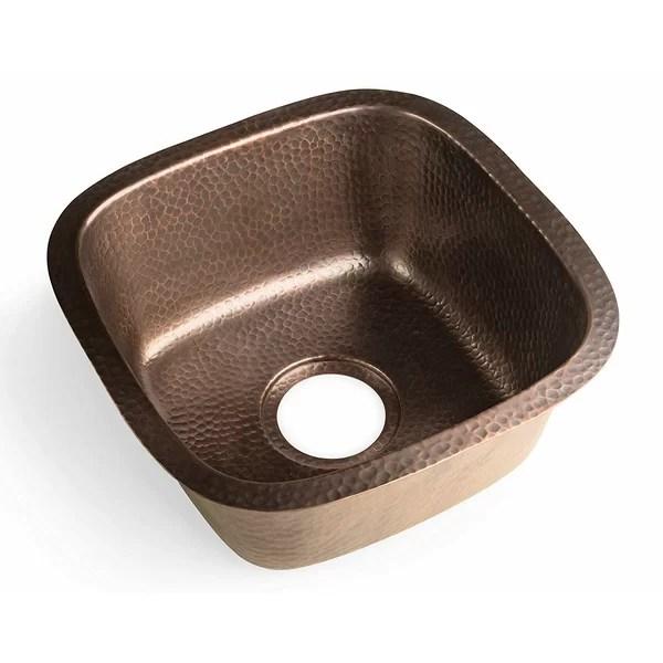 hammered brass bar sink