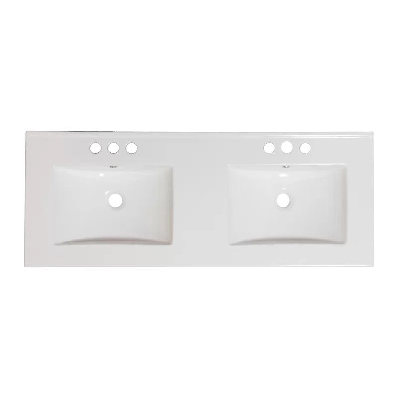 Drop-in 48 Double Bathroom Vanity Top