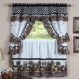 one piece kitchen curtains wayfair