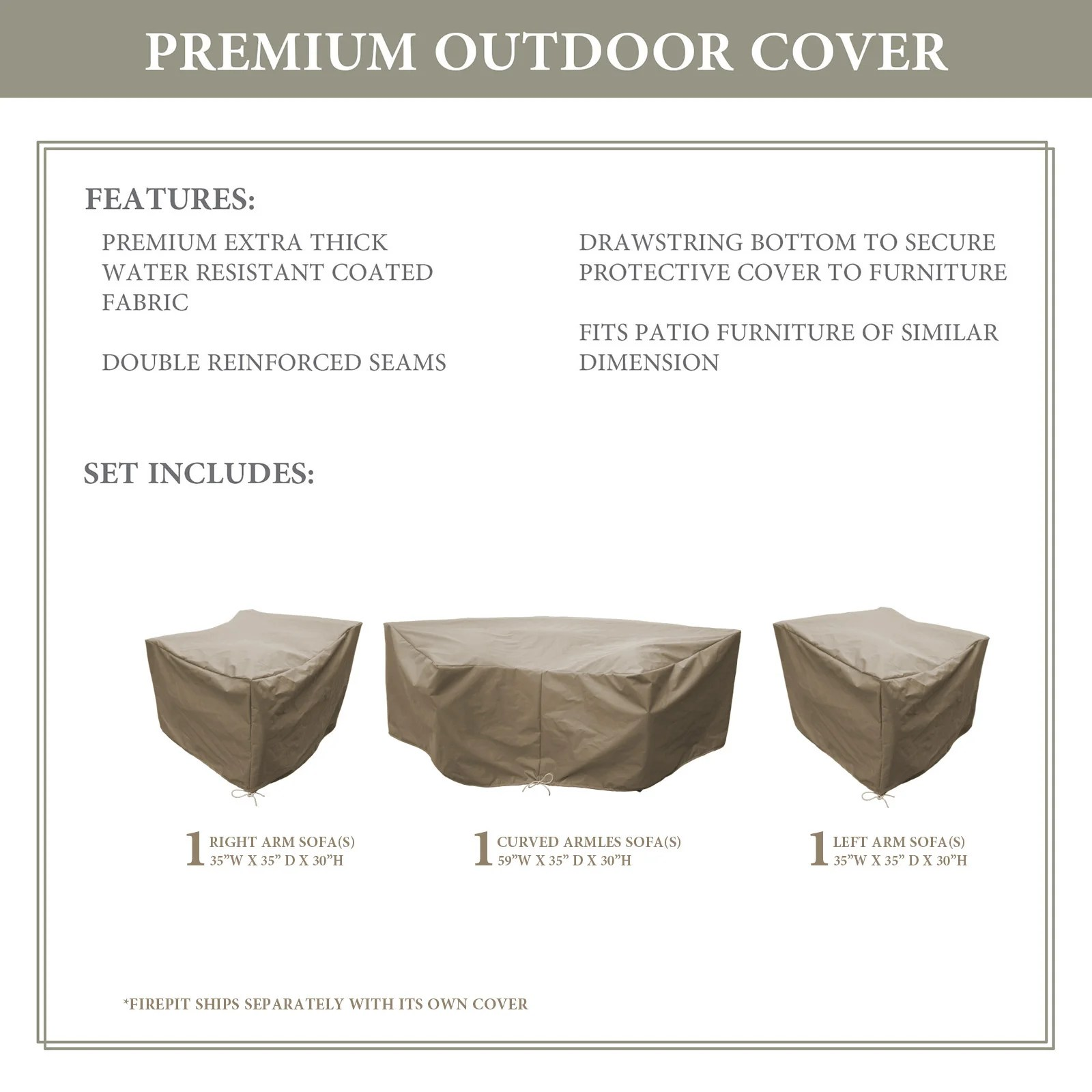 falmouth water resistant patio furniture cover