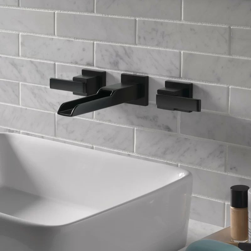 ara wall mounted bathroom faucet with drain assembly