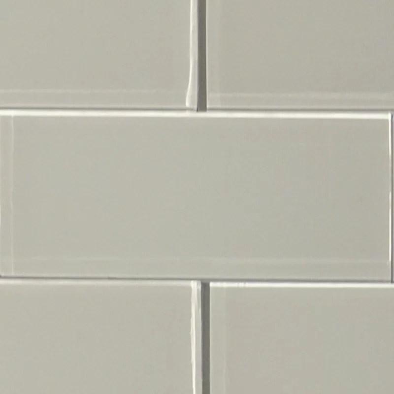shiny 5 x 13 glass field tile