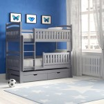 Harriet Bee Azaiah Single Triple Sleeper Bunk Bed With Trundle And Drawers Reviews