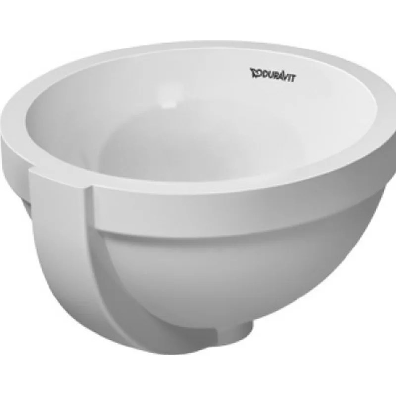 Architec Ceramic Circular Undermount Bathroom Sink with Overflow